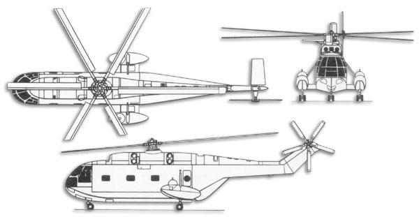 提供一些直升机三视图及相关参数-aerospatiale